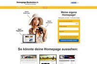 Screenshot: Homepage Baukasten