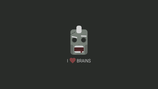 Wallpaper Zombie I love brains