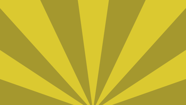 Wallpaper Radial Stripes Yellow