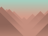Wallpaper Flamingo Mountains