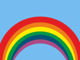 Wallpaper bunter Regenbogen