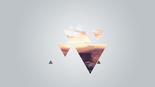 Wallpaper Triangled Sky