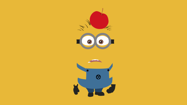 Wallpaper Minion - Apfel