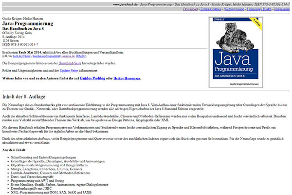 Screenshot: Javabuch.de