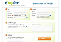 Screenshot: myFax